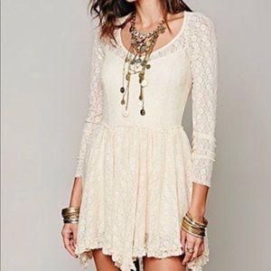 NWOT Free People Intimately Long Sleeve Lace Dress